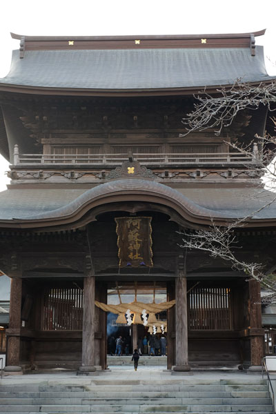 地震前の阿蘇神社「楼門(ろうもん)」
