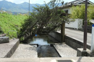 地震の影響なしの湧沢津水源