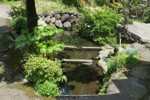 熊本地震後の川地後水源