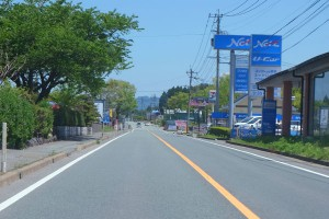 GW交通量が少ない国道57号線【熊本地震後】