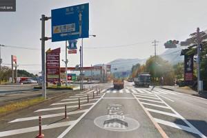 下野交差点を左折[国道57号線→県道298号線]