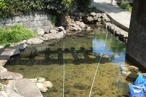 地震で損壊した寺坂水源