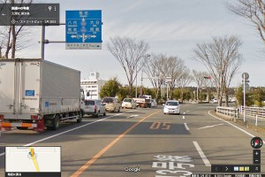 ミルクロードへ大津町室交差点を右折【国道443号線】