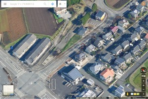美咲野交差点から脇道左折《阿蘇迂回路・ミルクロード》