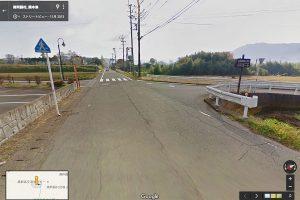 JA阿蘇葬祭南阿蘇斎場付近の脇道を右折[吉田城の案内標識]