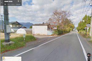 南阿蘇村道の左脇道へ左折[湧沢津水源へアクセス]