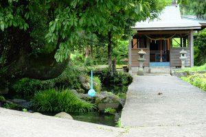 岩下神社の参道と水源[池の川水源・南阿蘇村]