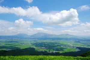 大観峰からの阿蘇五岳[ミルクロード・県道45号線]