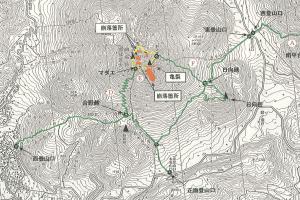 由布岳 登山規制地図〈大分県:2016年8月3日現在〉