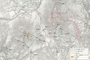 由布岳・鶴見岳・内山[大分県 登山規制地図]