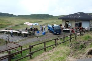整備中の阿蘇草千里乗馬クラブ