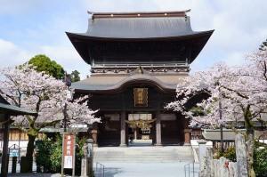 熊本地震倒壊前の楼門[阿蘇神社]