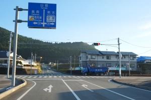 大津町から俵山トンネル迂回路へ