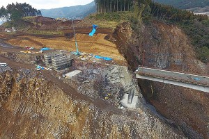 長陽大橋復旧工事[立野側・2017年1月30日]