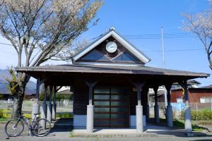 駅駐車場側の外観[見晴台・南阿蘇鉄道]