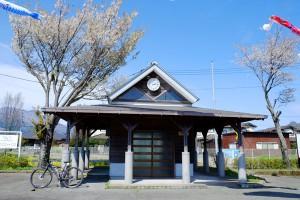 見晴台駅の桜[南阿蘇鉄道]