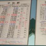 時刻表[中松駅・南阿蘇鉄道]