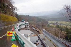 長陽大橋復旧工事[栃の木側]