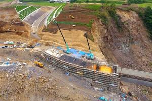 長陽大橋復旧工事[立野側]