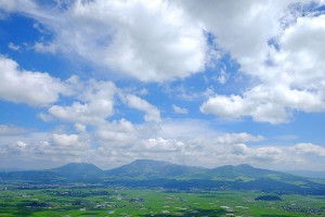 阿蘇五岳とカルデラ平野部[大観峰展望台]