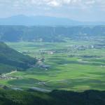 カルデラ平野部と農耕地[大観峰展望台]