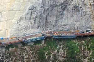 長陽大橋復旧工事[戸下側]