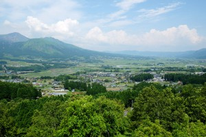 阿蘇南郷谷の景色[観音桜展望台・南阿蘇村]