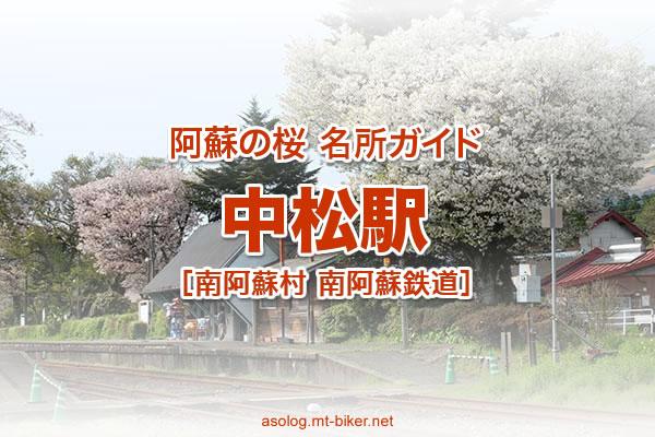 中松駅 南阿蘇鉄道[南阿蘇村 桜の名所]