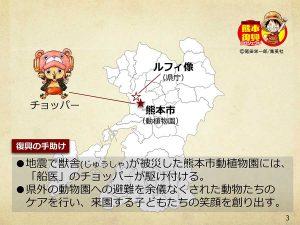 【熊本】ワンピース像『チョッパー』設置場所
