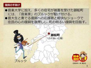 【熊本】ワンピース像『ブルック』設置場所