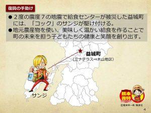 【熊本】ワンピース像『サンジ』設置場所