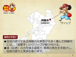 【熊本】ワンピース像『ウソップ』設置場所